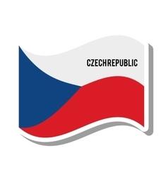 Czech republic patriotic flag isolated icon vector