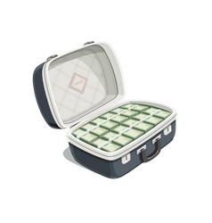 black open briefcase vector image