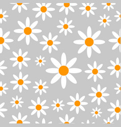 Chamomiles seamless pattern background vector