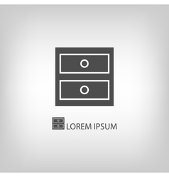 Grey chest of drawers vector