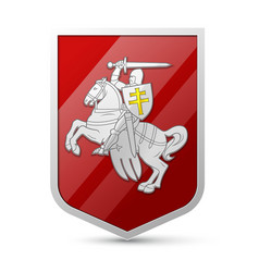 Coat of arms belarus vector