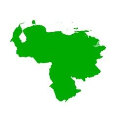 Map of Venezuela vector image