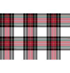 Dress stewart tartan seamless pattern fabric vector