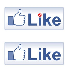 Thumb up and like vector