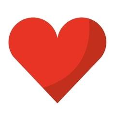 Heart card isolated icon design vector