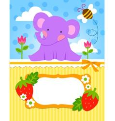 Baby elephant cadr vector