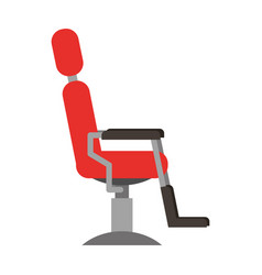 barbershop chair isolated icon vector image