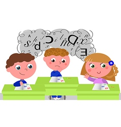 Children with learning difficulties vector