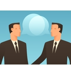 Dialogue business conceptual with vector image