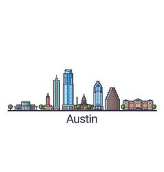 flat line austin banner vector image