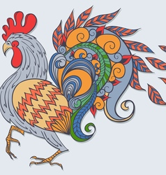 Freehand drawing of the rooster vector image vector image
