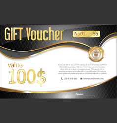 gift voucher retro design template vector image