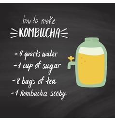 kombucha recipe 2 vector image vector image