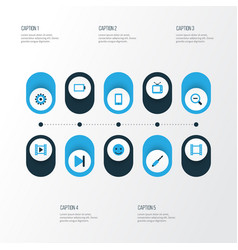 Music colorful icons set collection of finish vector