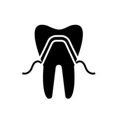 Prosthetics icon black sign vector