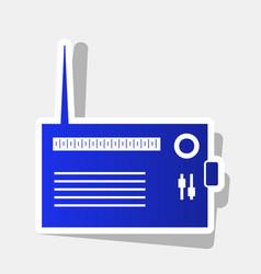 Radio sign new year bluish vector
