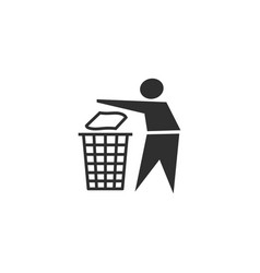 recycling sign icon vector image
