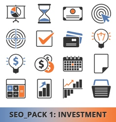 Seo investment pack vector