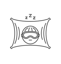 thin line sleep icon vector image vector image