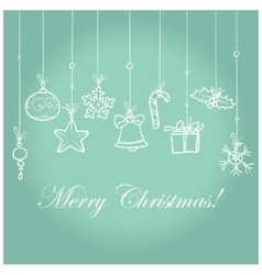 Vintage Christmas card design vector image