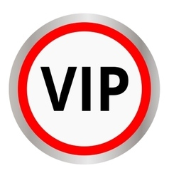 Vip circular icon vector image vector image