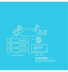 Network cloud computing vector