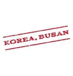 Korea busan watermark stamp vector