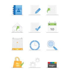 Clean designed web icons vector