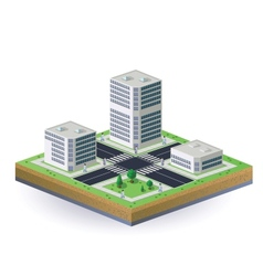 Isometric image of the city vector