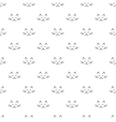 Pattern with cat face icons vector