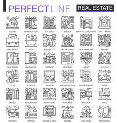 Real estate concept symbols perfect thin line vector