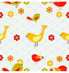 Fresh floral season pattern vector