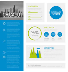 Simple infographic dashboard template vector