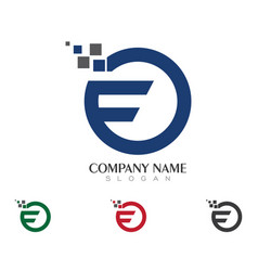 F letter logo business template vector