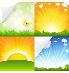 Collection of landscapes vector