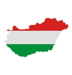 Map and flag of Hungary vector image