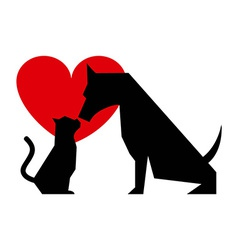 cat and dog design vector image