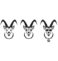Chinese symbol goat image desi vector