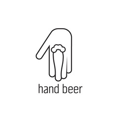Hand beer concept design template vector