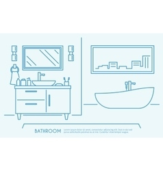 Bathroom furniture outline vector
