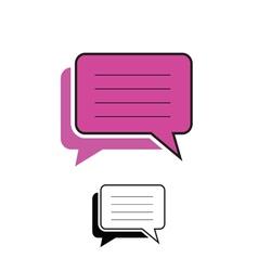 Comic speech pink vector