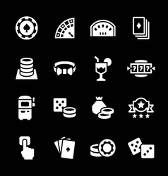 Set icons of casino vector