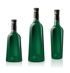 Green wine bottle vector