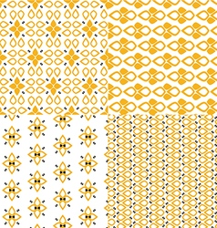 Retro patterns set vector