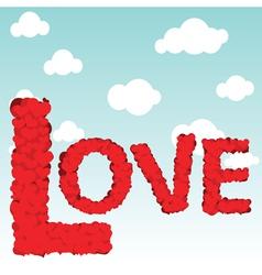 love type vector image