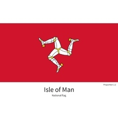 National flag isle of man with correct proportions vector