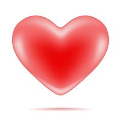 Red shiny heart shape vector
