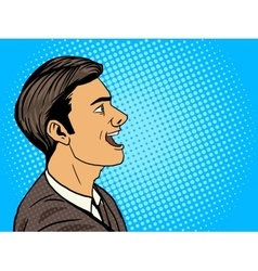 Man speak pop art style vector