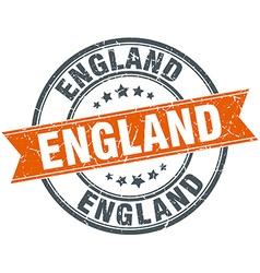 England red round grunge vintage ribbon stamp vector
