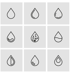Line drop icon set vector